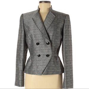 Tahari ASL Gray Blazer Jacket Size 6